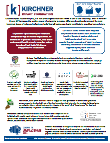 Kirchner Impact Foundation One Pager